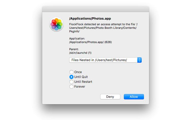Schutz vor Mac-Malware: FlockFlock informiert über Dateizugriffe