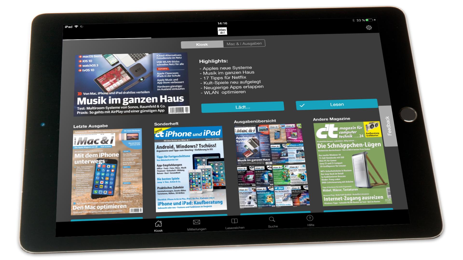 cc4a311d3c9b69 In eigener Sache  iOS-Apps für die Heise-Magazine neu aufgelegt ...