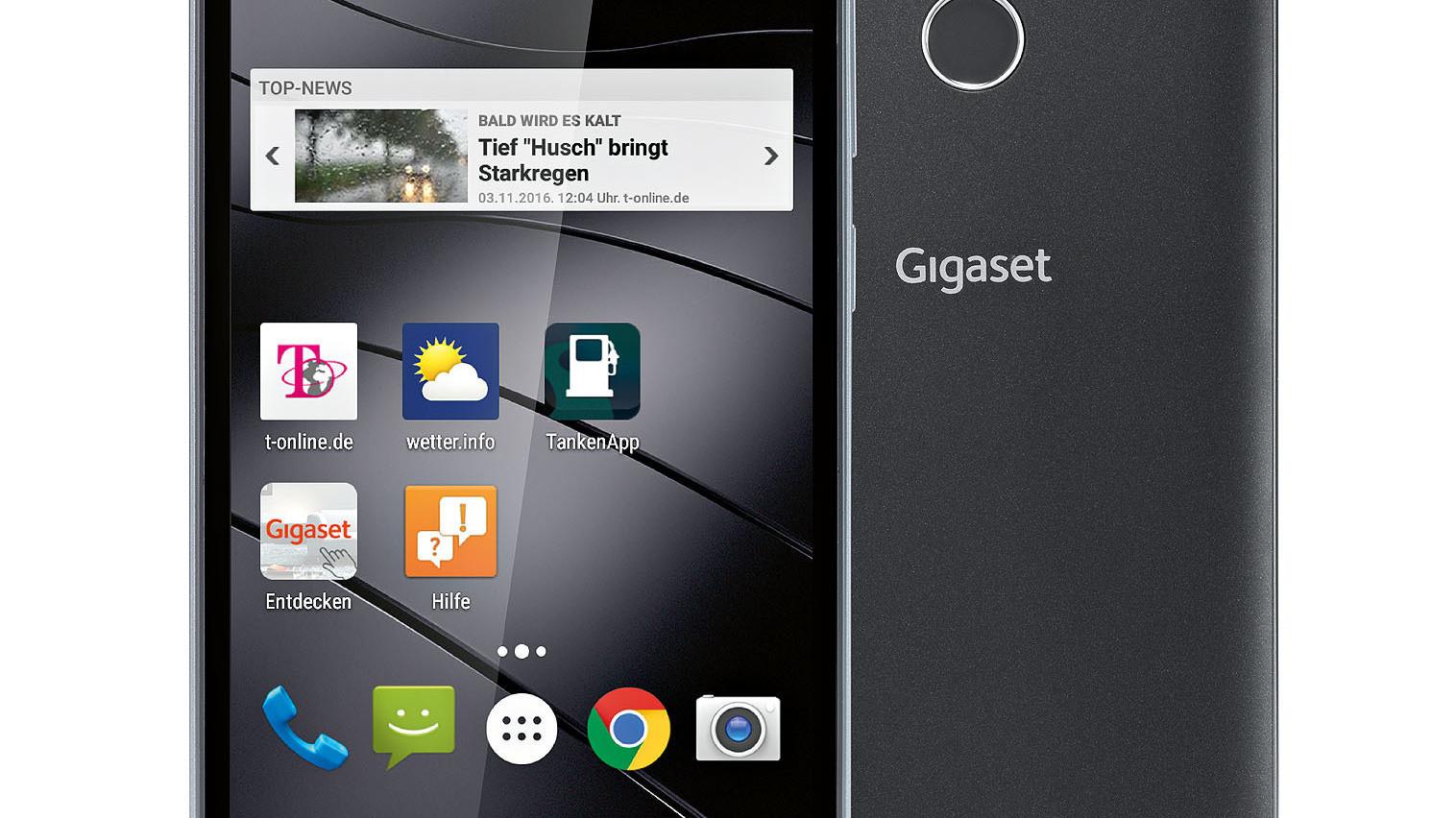 Gigaset GS160: Smartphone mit Fingerabdrucksensor für 149 ...
