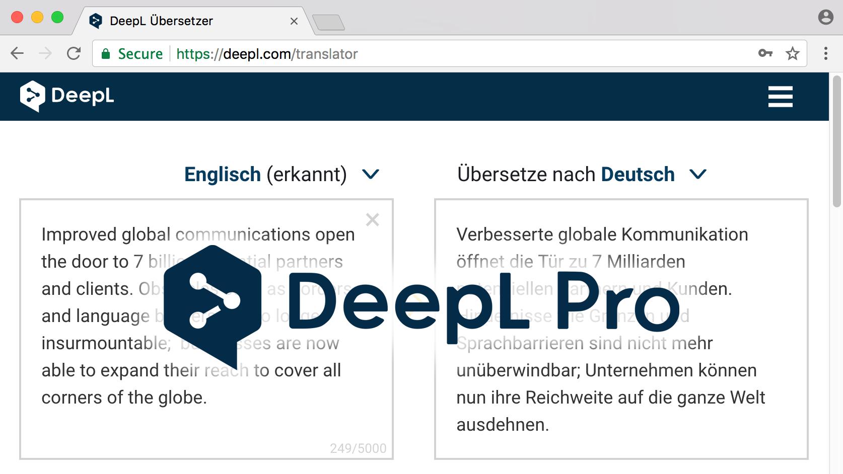 DeepL Pro: Neuer Aboservice für Profi-Übersetzer, Firmen und Entwickler |  heise online