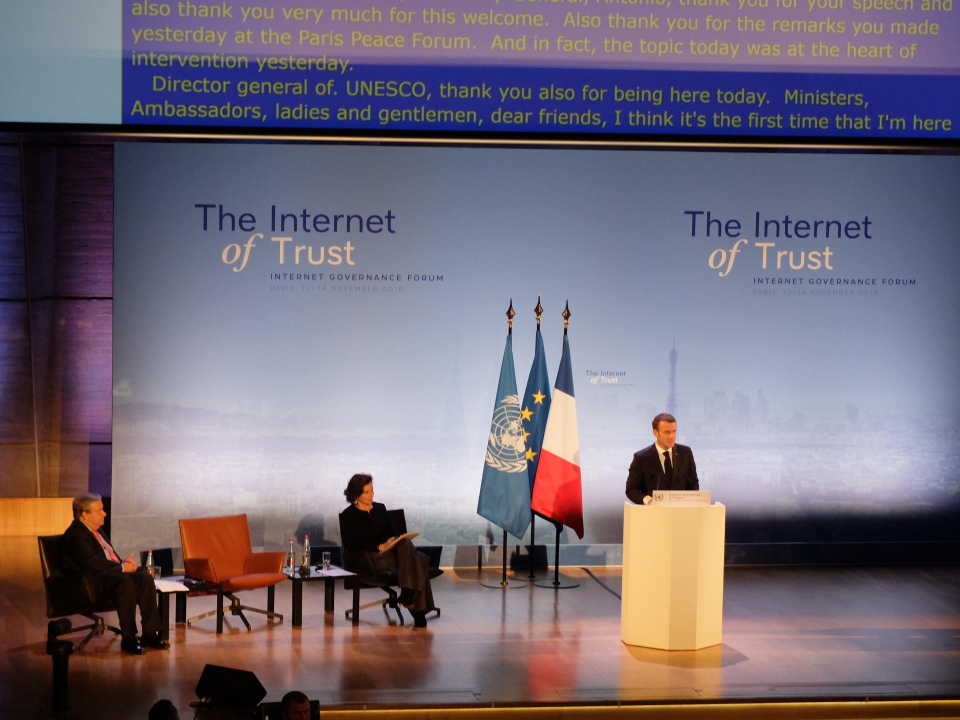 Emmanuel Macron: Internet muss reguliert werden, um frei zu bleiben