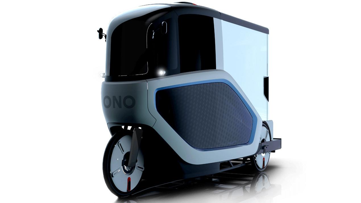 elektro lastrad ono zeigt cargo bike mit fahrerkabine. Black Bedroom Furniture Sets. Home Design Ideas