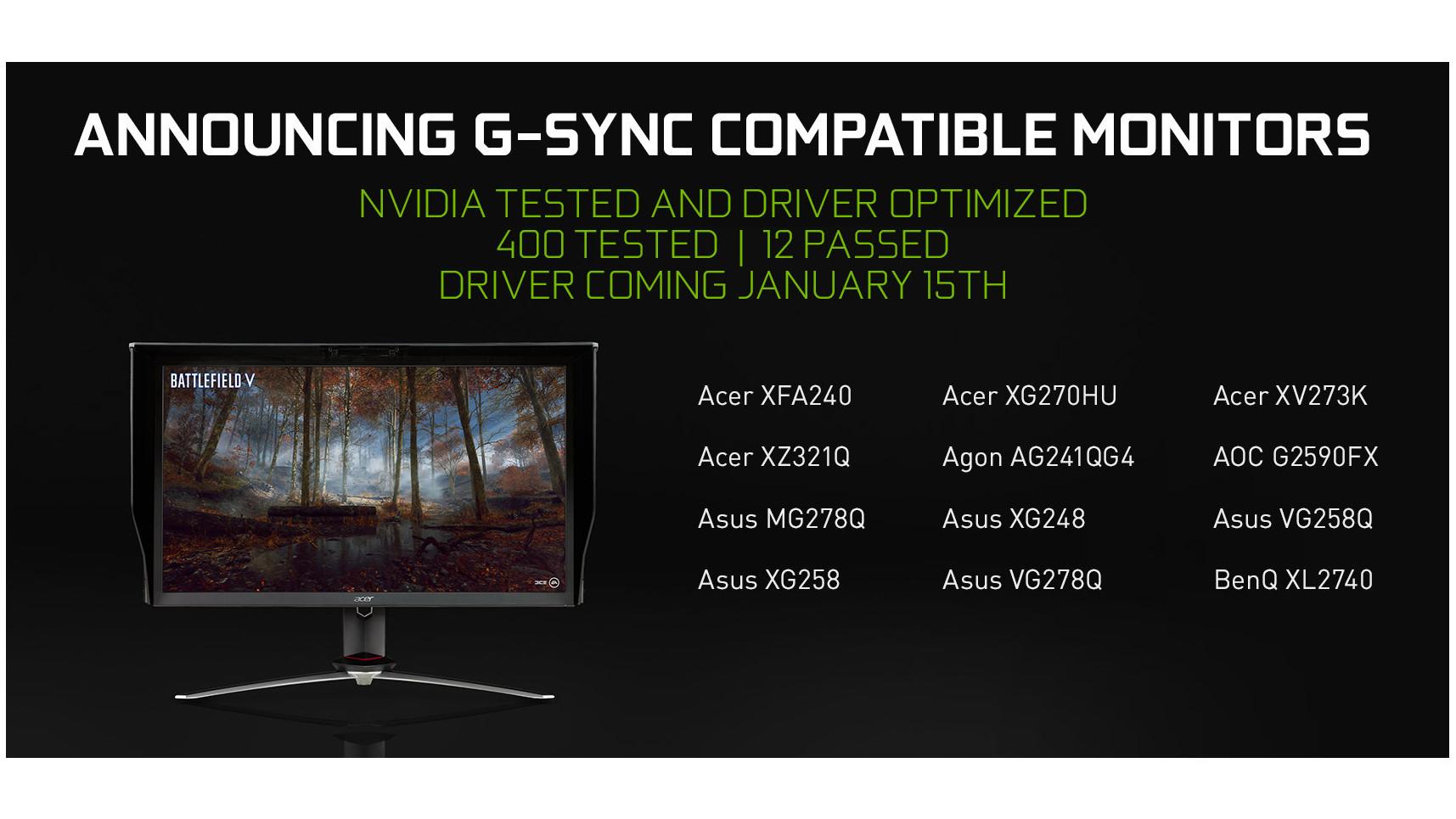 QnA VBage GeForce-Treiber 417.71 unterstützt GeForce RTX 2060 und FreeSync-Displays