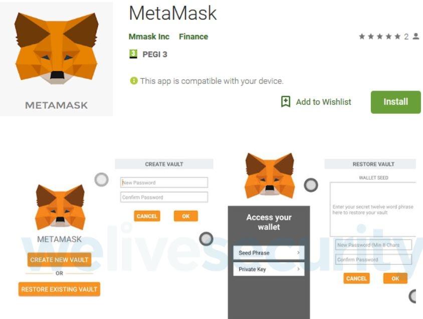 QnA VBage Fake-App in Googles Play Store sollte Kryptogeld stehlen