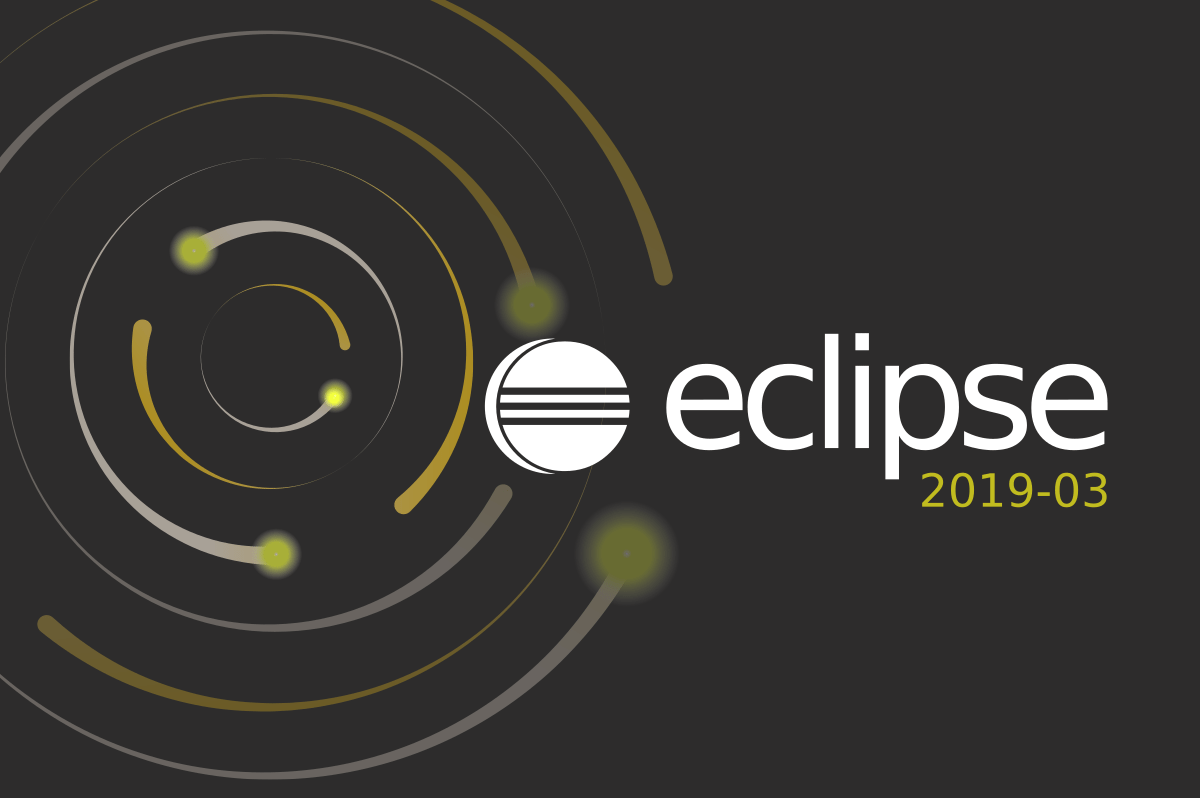 Eclipse development environment in the new version 2019-03