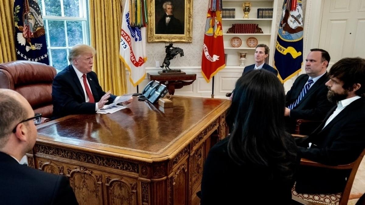 Trump trifft Twitter-Chef: US-Präsident beklagt Benachteiligung bei Followern