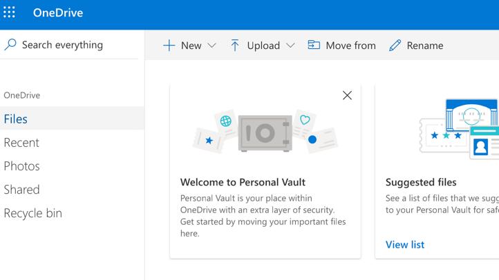 "OneDrive: Microsofts Cloud-Speicher erhält Sicherheitsfeature ""Personal Vault"""