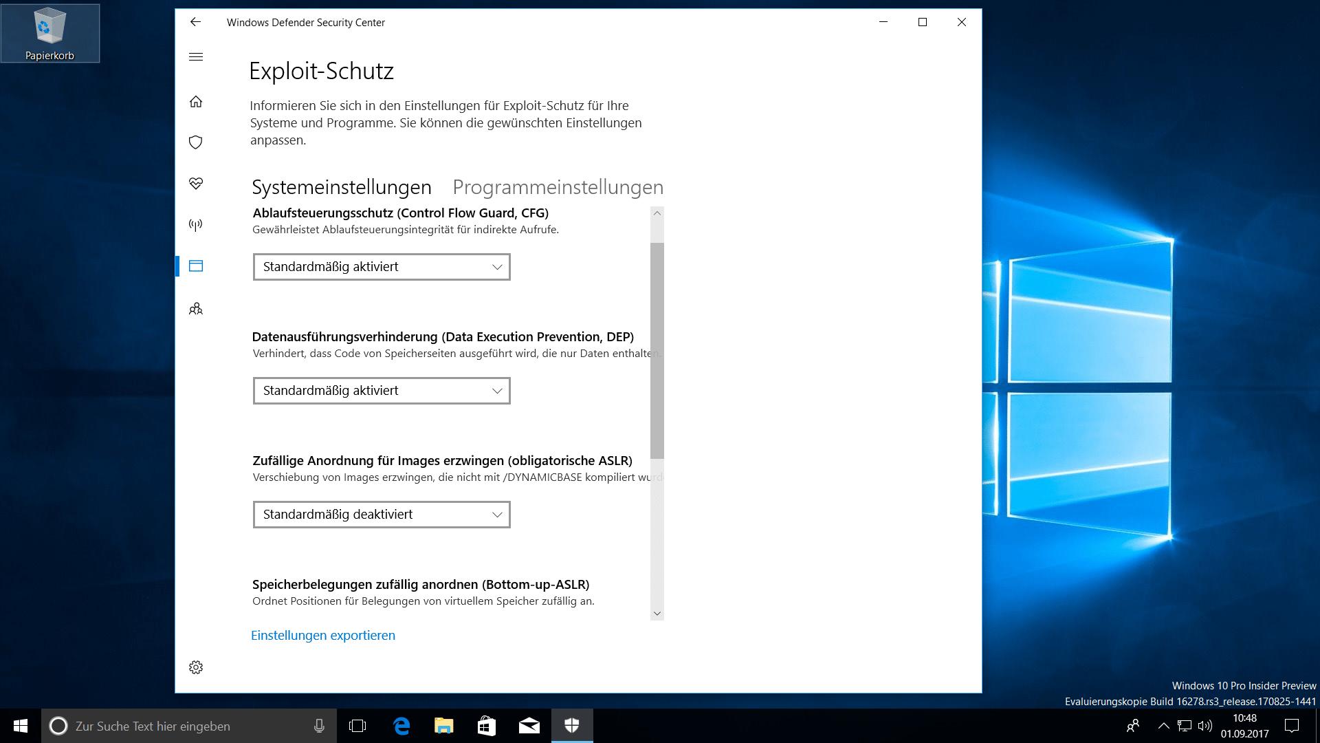 windows 10 1709 build nummer
