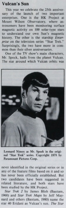 Star Trek trifft Astronomie: Exoplanet im Sternsystem der Vulkanier entdeckt