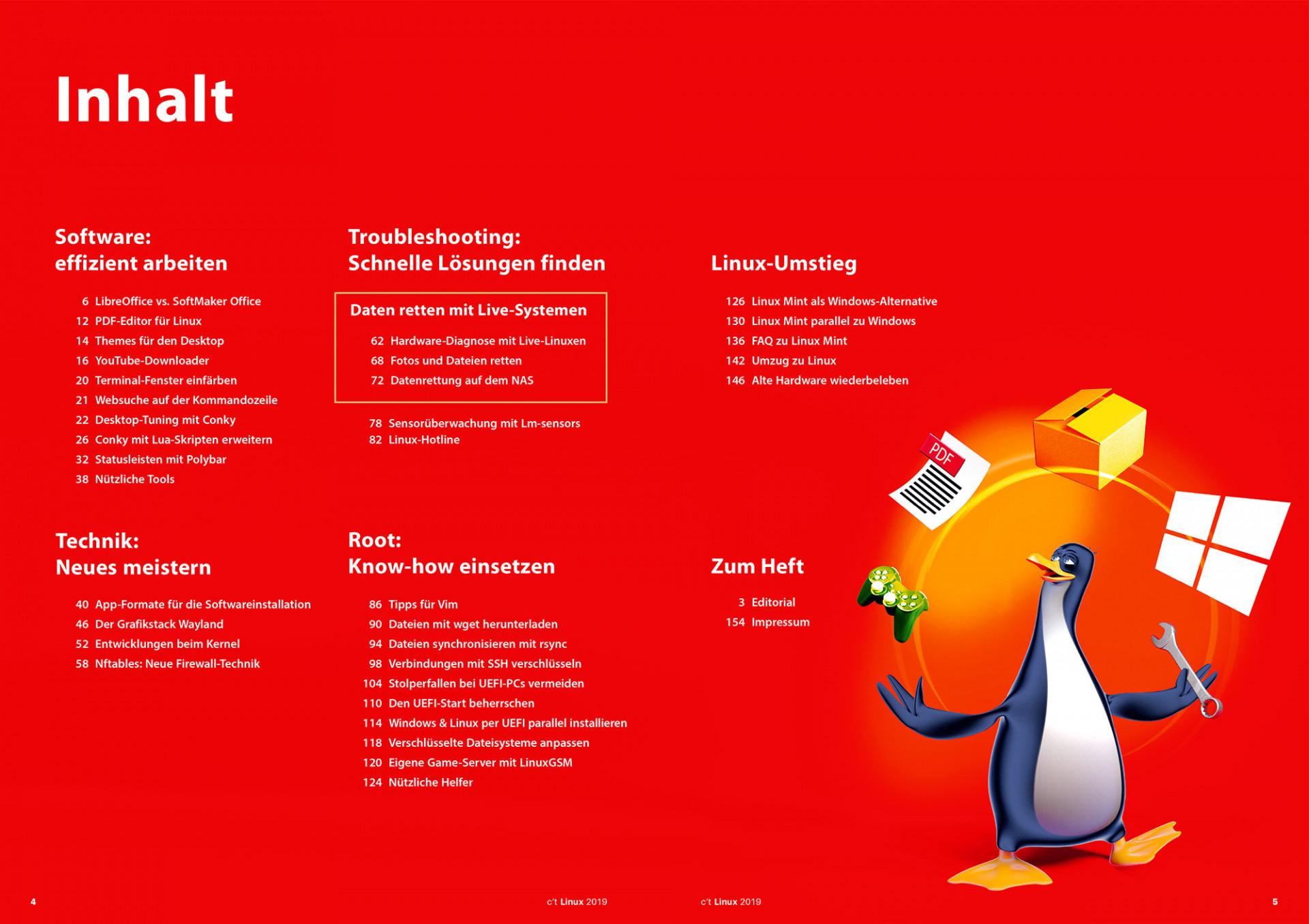 c't Linux 2019: Mit Linux Mint durchstarten