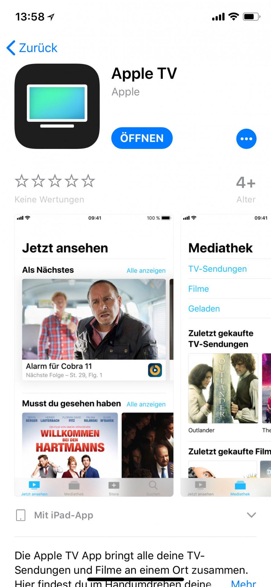 app apple tv taucht auf iphone und ipad nicht auf mac i. Black Bedroom Furniture Sets. Home Design Ideas