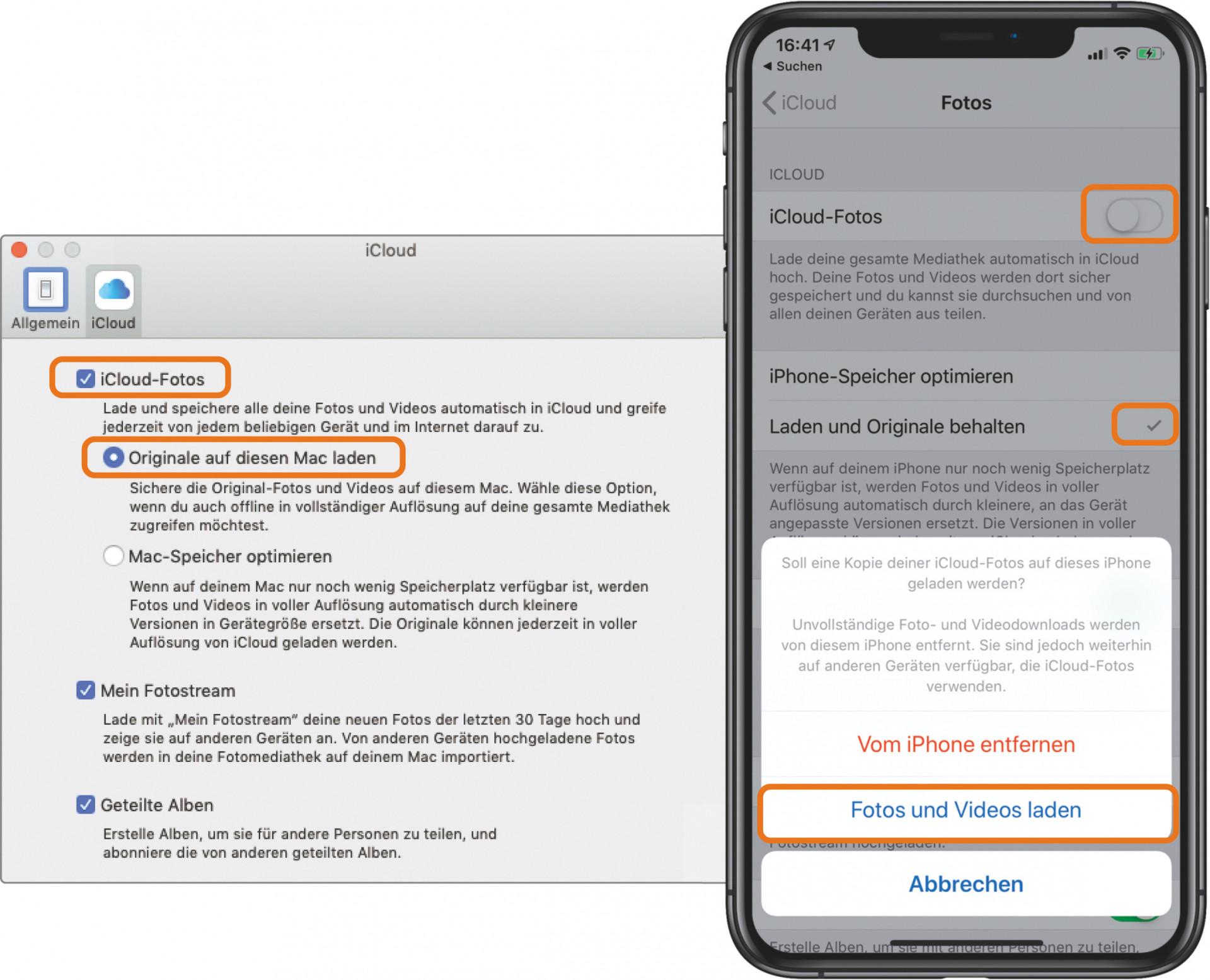 Fotos aus iCloud löschen - aber nicht vom iPhone   Mac & i
