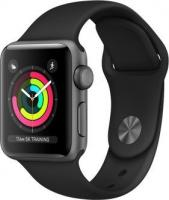 Apple Watch Series 3 (GPS) Aluminum 38mm Gray with Black Sports Wristband (MTF02ZD / A)
