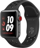 Apple Watch Nike+ Series 3 (GPS + Cellular) Aluminium 38mm grau mit Sportarmband anthrazit/schwarz (MTGQ2ZD/A)