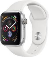 Apple Watch Series 4 (GPS) Aluminium 40mm silber mit Sportarmband weiß (MU642FD/A)