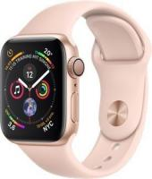 Apple Watch Series 4 (GPS) Aluminium 40mm gold mit Sportarmband sandrosa (MU682FD/A)
