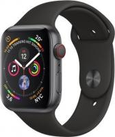 Apple Watch Series 4 (GPS + Cellular) Aluminium 44mm grau mit Sportarmband schwarz (MTVU2FD/A)