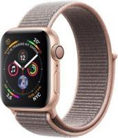 Apple Watch Series 4 (GPS) Aluminium 40mm gold mit Sport Loop sandrosa (MU692FD/A)