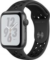 Apple Watch Nike+ Series 4 (GPS) Aluminium 44mm grau mit Sportarmband anthrazit/schwarz (MU6L2FD/A)