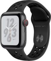 Apple Watch Nike+ Series 4 (GPS + Cellular) Aluminium 40mm grau mit Sportarmband anthrazit/schwarz (MTXG2FD/A)
