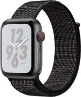 Apple Watch Nike+ Series 4 (GPS + Cellular) Aluminium 44mm grau mit Sport Loop schwarz (MTXL2FD/A)