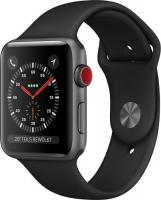 Apple Watch Series 3 (GPS + Cellular) Aluminium 42mm grau mit Sportarmband schwarz (MQKN2ZD/A)