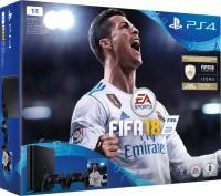 Sony PlayStation 4 Slim - 1TB inkl. 2 Controller, FIFA 18 Bundle, schwarz