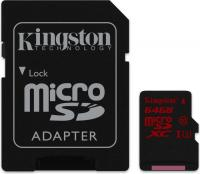 Kingston UHS-I U3 microSDXC  64GB Kit, UHS-I U3/Class 10 (SDCA3/64GB)