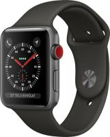 Apple Watch Series 3 (GPS + Cellular) Aluminium 42mm grau mit Sportarmband grau (MR302ZD/A)