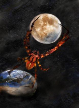 Spinne im Weltall von eschem