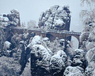 Bastei im Winter von erzgebirgszorro