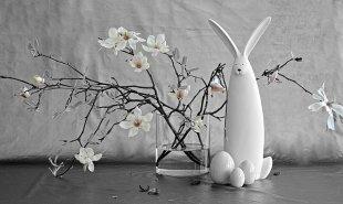 Magnolie mit Hasen von Barbara Steinfort