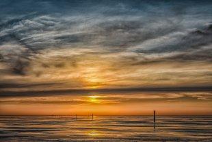 Sunset at Westerhever III von The real Peter Gunn