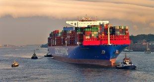 Containerschiff im Hamburger Hafen 2 von RüdigerLinse