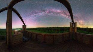 Hochsolling Milchstraße & Polarlicht von Mario Konang - Lightrecords