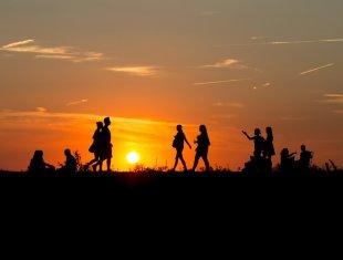 Sonnenuntergang vor Mondfinsternis von Neofelis