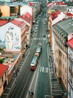 Blick vom Heinrichsturm (Prag)... von Johann W.