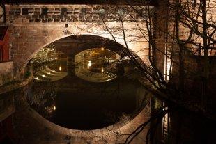 Brücke in der Nacht (Nürnberg) von hucky91074