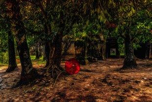 Roter Schirm von Joachim Kopatzki