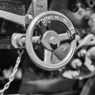 Dampflok Handrad Museum von Alexander Horvath