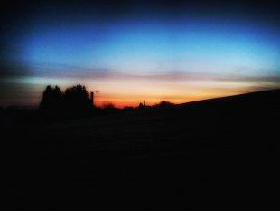 Silhoutte des Morgengrauens von Tarnsocke
