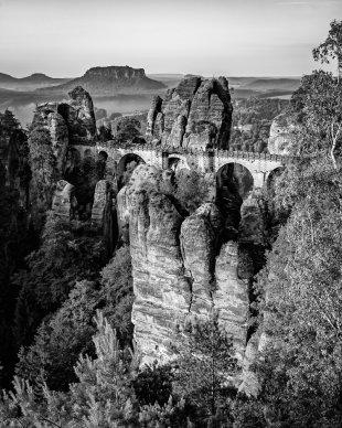Blick auf die Basteibrücke von M. Rasch