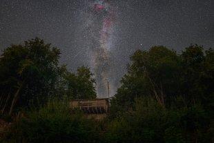 Leineberglandbalkon Milchstraße Sternschnuppe von Mario Konang - Lightrecords