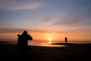 Sunset at Westerhever IV von The real Peter Gunn
