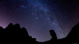 Milky Way über der Caldera von lewski