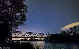 Orion über dem Mittellandkanal von Andreas-Max David