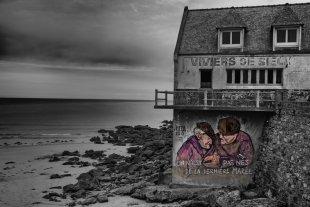 Graues Haus am Meer von Joachim Kopatzki