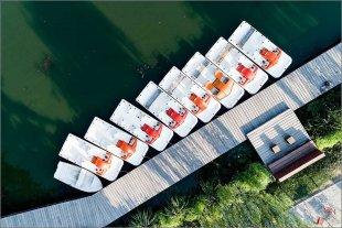 Heute Morgen am Bootsverleih von Manfred Fessel