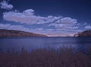 Infrarotfoto von der Aabach-Talsperre von sauerlinse