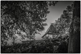 Blick zum Gartenhaus von Bernd Seibel
